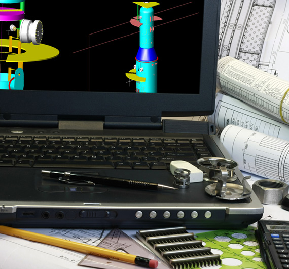 Drafting of column tower use in oil and gas industry. Note disiplay in the monitor is my original works.